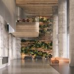 Beautiful design of the lobby by the architects